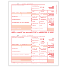 ComplyRight 5498 Tax Forms Laser Cut
