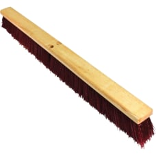 Genuine Joe Maroon Broomhead Polypropylene Bristle