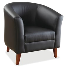 Lorell Barrel Club Bonded Leather Armchair