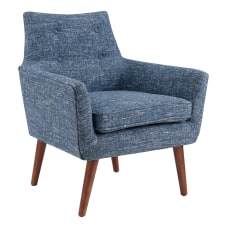 Linon Lindsay Chair Blue Tweed