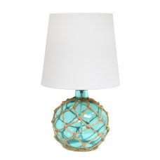 Elegant Designs Buoy Netted Glass Table