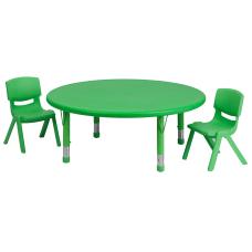 Flash Furniture Round Plastic Height Adjustable