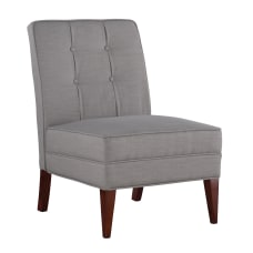 Linon Laurie Slipper Chair GrayWalnut
