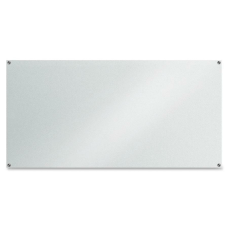 Lorell Glass Unframed Dry Erase Whiteboard
