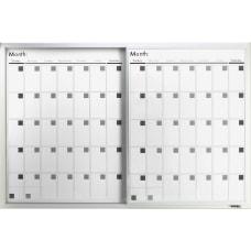 Lorell Magnetic Unframed Dry Erase Calendar