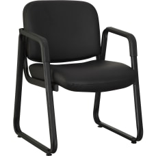 Lorell Bonded Leather Guest Chair Black
