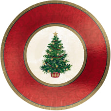 Amscan Classic Christmas Tree Paper Plates