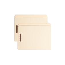 Smead Manila Reinforced Tab Fastener Folders