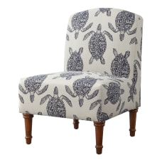 Powell Hallam Accent Chair Dark WalnutBlue