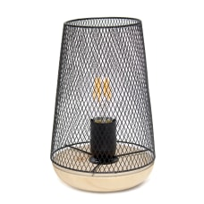 Simple Designs Wired Mesh Uplight Table