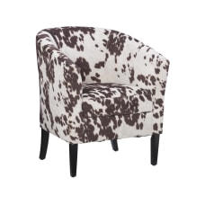 Linon Cullman Microfiber Club Chair Brown