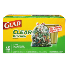 Glad Tall Kitchen Recycling Drawstring Trash