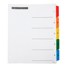 SKILCRAFT Index Divider Sheets With Numerical