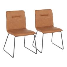 LumiSource Casper Chairs BlackCamel Set Of