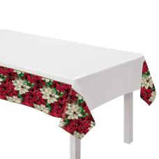 Amscan Christmas Poinsettia Plastic Table Covers