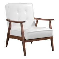 Zuo Modern Rocky Arm Chair WhiteWalnut