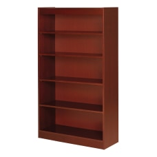 Lorell Veneer Bookcase 5 Shelf 60